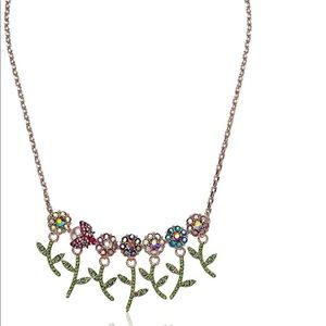 Betsey Johnson Fruity Petals Flower Necklace